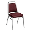 "Square Back Vinyl Stack Chair with 2"" Seat, 51335"