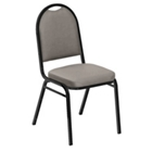 "Round Back Vinyl Stack Chair with 2"" Seat, CD04246"