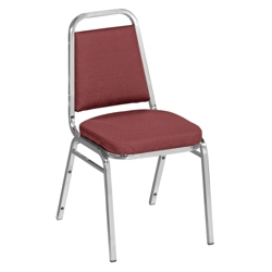 "Square Back Fabric Stack Chair with 2"" Seat, 51338"