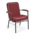 500 lb. Capacity Vinyl Stack Chair with Arms, 51351