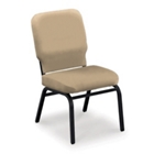 Oversized Armless Stack Chair in Vinyl, CD04304