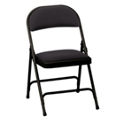 "Oasis Fabric Folding Chair with 1-3/8"" Thick Seat, CD06037"