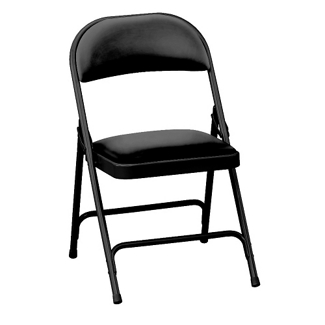 """Oasis Vinyl Folding Chair with 1-3/8"""" Thick Seat, 51368"""