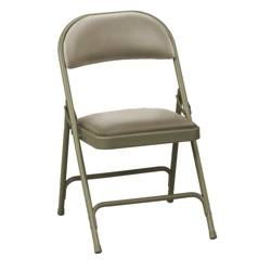 "Oasis Vinyl Folding Chair with 1-3/8"" Thick Seat, 51368"