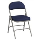 "Oasis Fabric Folding Chair with 2-1/4"" Thick Seat, CD06039"