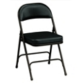 """Oasis Vinyl Folding Chair with 2-1/4"""" Thick Seat, 51370"""