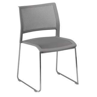 All-Purpose Mesh Back and Seat Stack Chair, 51375