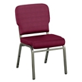 Solid Upholstery Armless Wingback Stack Chair, 51541