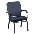 Solid Upholstery Big and Tall Wingback Stack Chair, 51545
