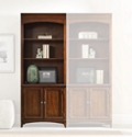 "80.5""H 3 Shelf Contemporary Bookcase with Doors, 32006"