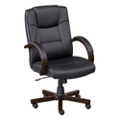 Axial Wood Frame Faux Leather Conference Chair, 52020