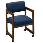 Fabric Guest Chair with Casters, 52043