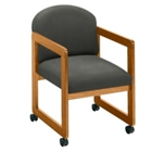 Vinyl Guest Chair with Arms, 52044