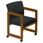 Vinyl Guest Chair with Arms, 52045