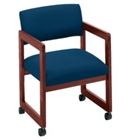 Vinyl Guest Chair with Arms, 52046