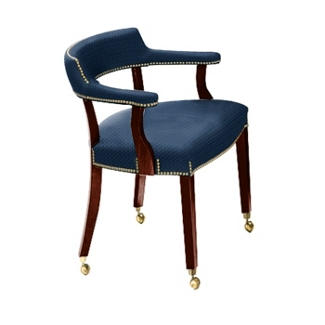 Traditional Captain's Chair with Casters, 52083