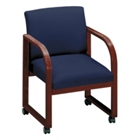 Fabric Sled Base Guest Chair with Casters, 52101