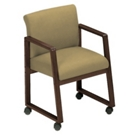 Sled Base Full Back Conference Chair with Casters, 52140