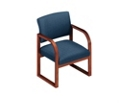 Sled Base Open Back Conference Chair with Arms, 52141