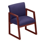Designer Fabric Sled Base Full Back Conference Chair with Arms, 52147