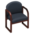 Designer Fabric Sled Base Conference Chair with Arms, 52151