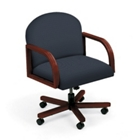 Designer Fabric Executive Round Back Swivel Chair, 52154