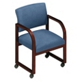 Heavy-Duty Vinyl Open Back Conference Chair with Casters, 52158