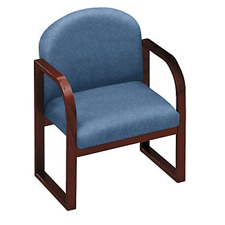 Heavy Duty Vinyl Sled Base Conference Chair With Arms 52159 And More Office