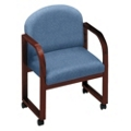 Heavy-Duty Vinyl Conference Chair with Arms, 52160