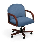 Heavy-Duty Vinyl Executive Round Back Swivel Chair, 52162