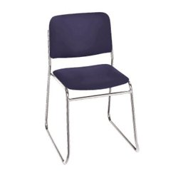 Heavy-Duty Upholstery Armless Sled Base Stack Chair - 52184 and more