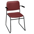 Sled Base Stack Chair with Arms in Heavy-Duty Vinyl, 52185