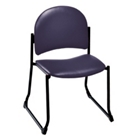 Heavy-Duty Upholstery Armless Sled Base Stack Chair, 52188