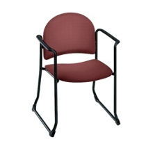 Heavy-Duty Upholstery Sled Base Guest Chair with Arms, 52189