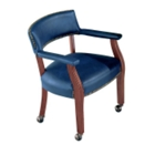 Traditional Vinyl Conference Chair with Casters, 52288