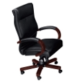 Traditional Leather Conference Chair, 52291
