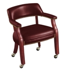 Vinyl Guest Chair with Casters, 52300