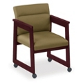 Tapered Arm Conference Chair with Casters, 52317