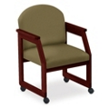 Round Back Conference Chair with Casters, 52321