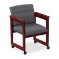 Extended Arm Conference Chair with Casters, 52325