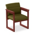 Print Fabric Extended Arm Chair, 52326