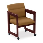 Print Fabric Extended Arm Chair with Casters, 52327
