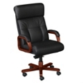 Black Leather Executive High Back Chair, 55468
