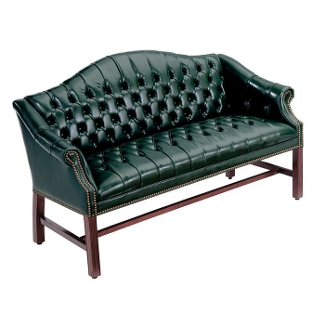 Traditional Vinyl Loveseat, 53293