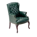 Traditional Vinyl Wing Chair, 53294