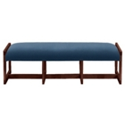 Leather Three Seat Reception Bench, 53431