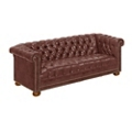 Brittas Bay Tufted Faux Leather Sofa, 76263