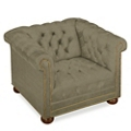 Brittas Bay Tufted Fabric Club Chair, 76256