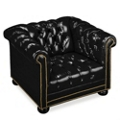 Leather Reception Chair with Arms, 53546