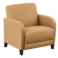 """Parkside Oversized Guest Chair in Faux Leather or Fabric - 31""""W, 53619"""